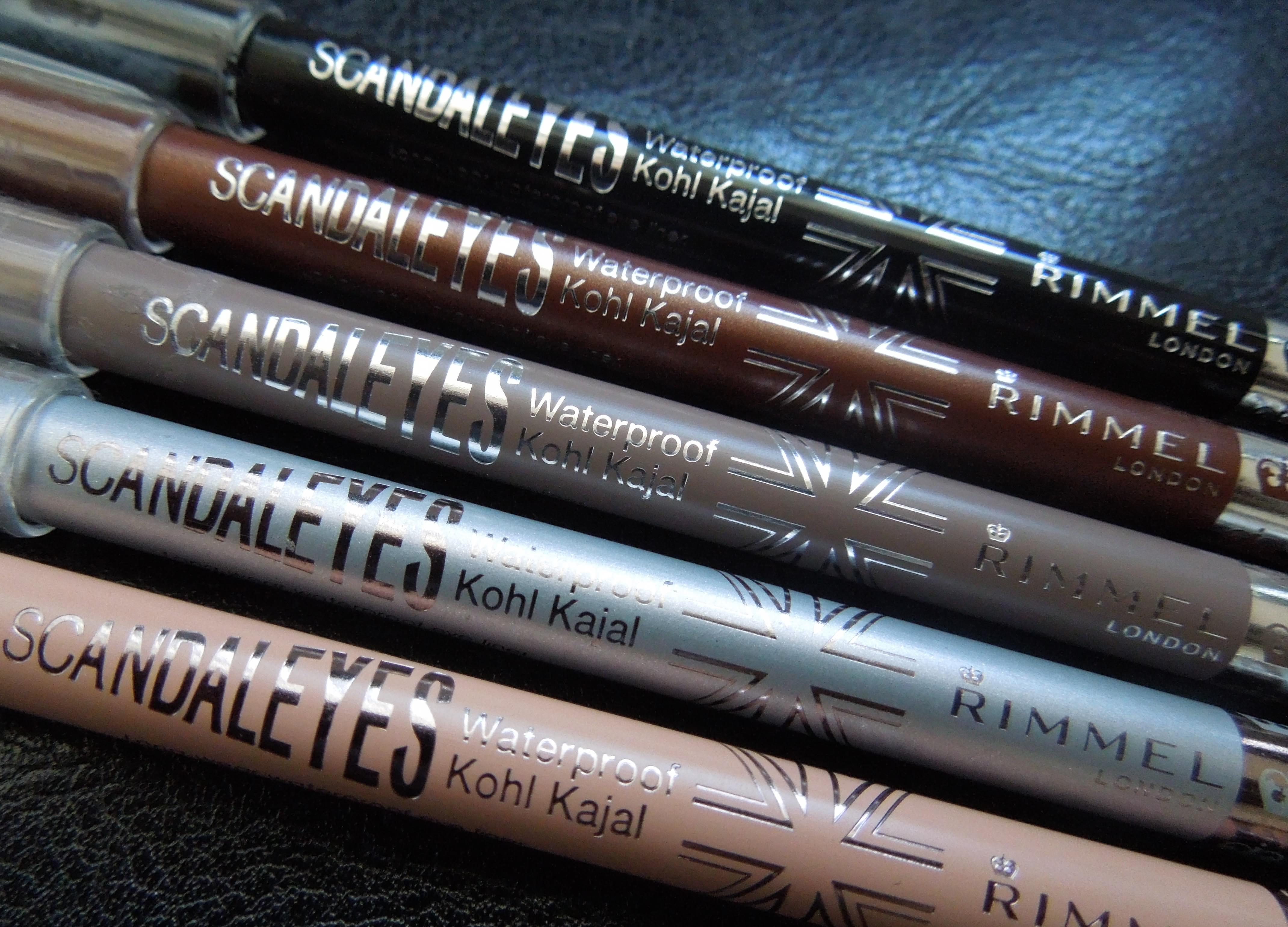 b7920b43cf6 Rimmel London Scandaleyes Waterproof Kohl Kajal Eyeliners (2) bronze black  taupe silver nude-
