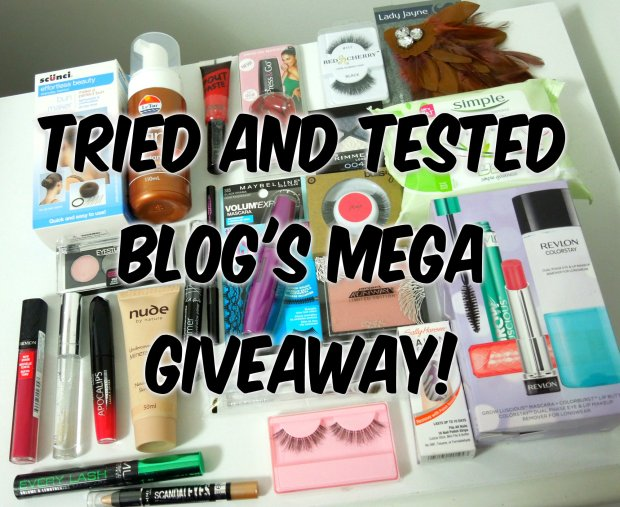 Tried and Tested Blog's Mega Giveaway