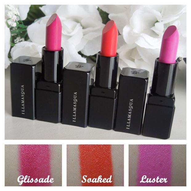 illamasqua glamore satin finish lipstick