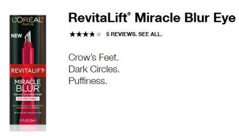 loreal miracle blur eye