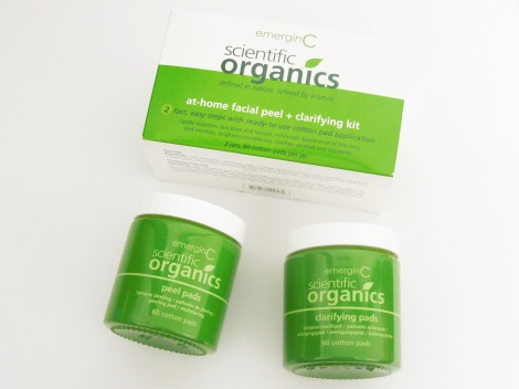emerginC scientific organics at home facial peel + clarifying kit