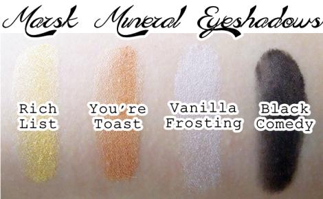 marsk mineral eyeshadow rich list you're toast vanilla frosting black comedy