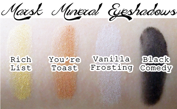 marsk mineral eyeshadow rich list you're toast vanilla frosting black comedy