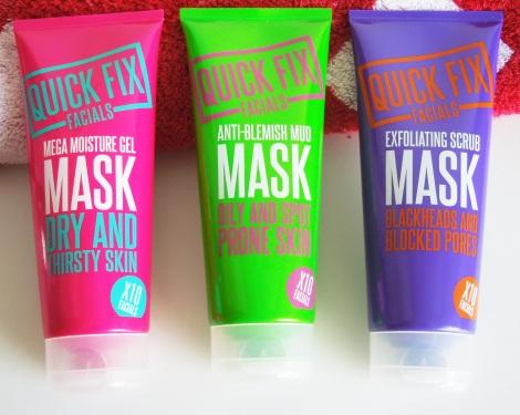 quick fix facials anti blemish exfoliating scrub mega moisture mask