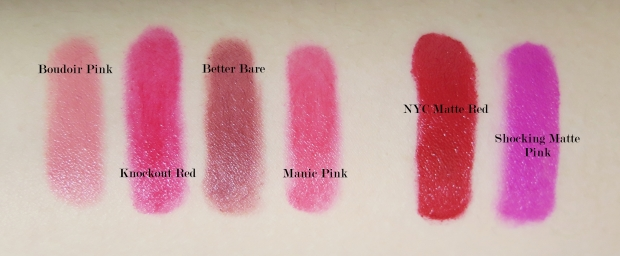 boe beauty big w matte jumbo wind up lips  matte lipstick swatches