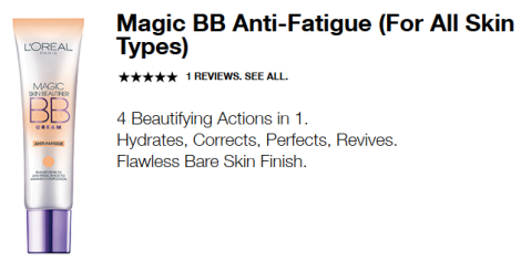 loreal magic bb anti fatigue