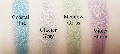 mary kay creme eye colour swatches