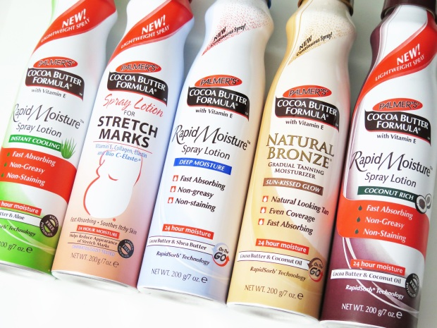 palmers cocoa butter rapid moisture spray lotion instant cooling stretch marks deep moisture natural bronze coconut rich