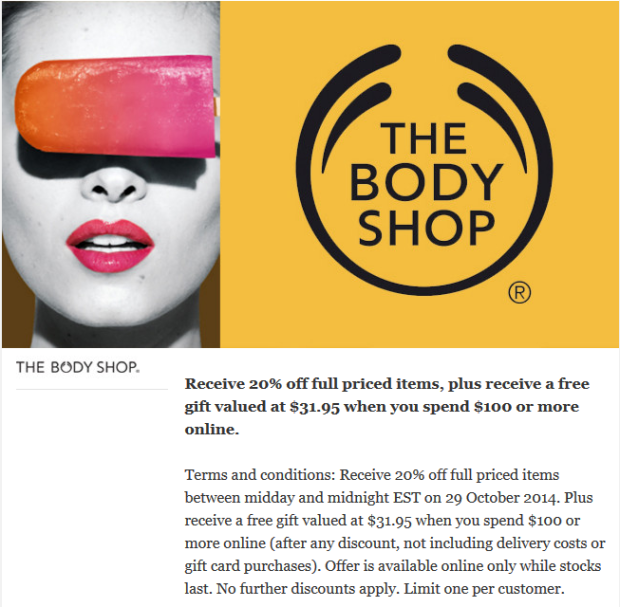vosn 2014 the body shop