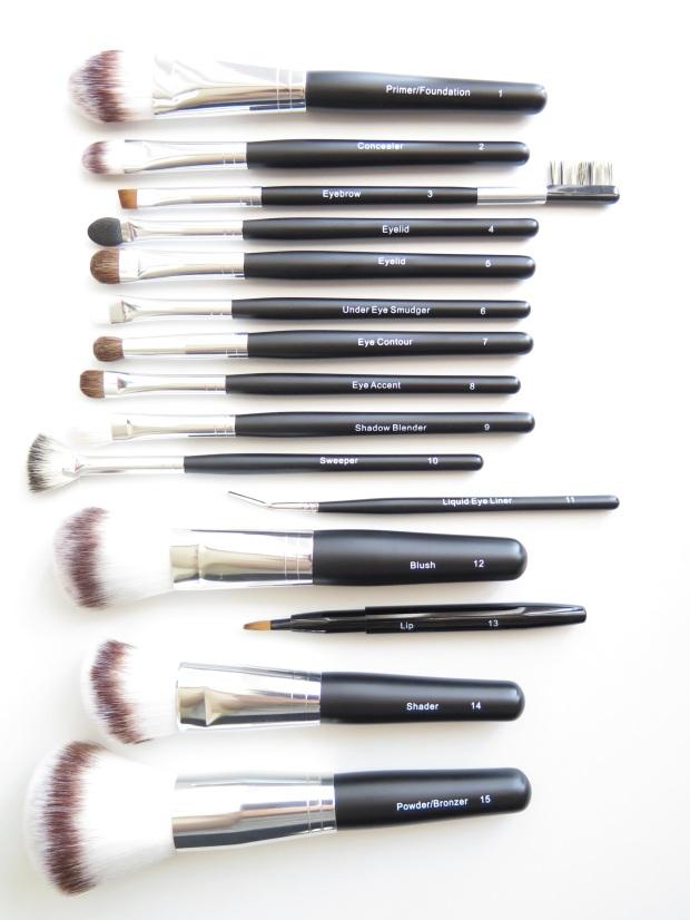 camp beauty survival kit makeup brush set 1