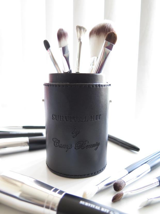 camp beauty survival kit makeup brush set 2