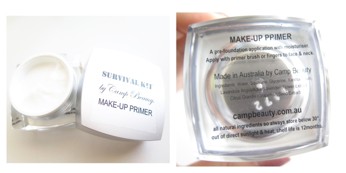 camp beauty survival kit  makeup primer