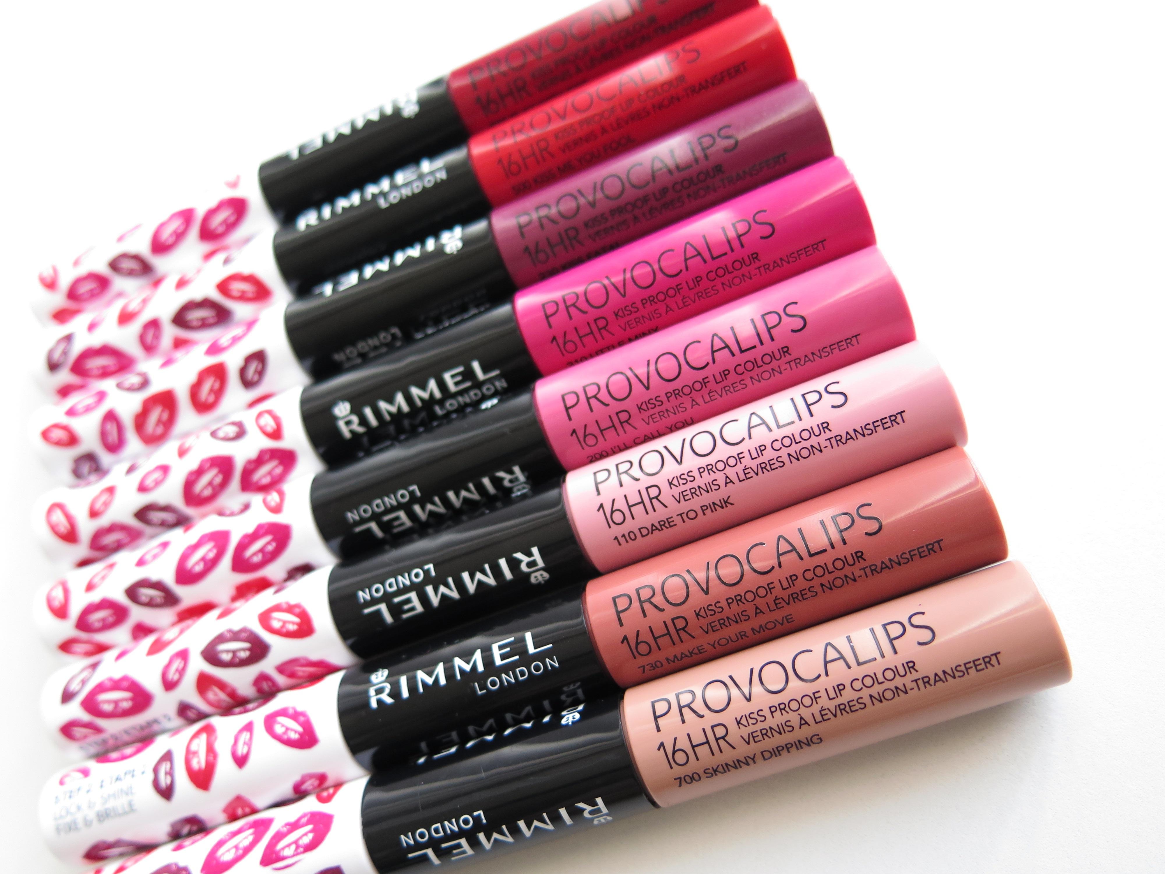 Rimmel London Provocalips 16 Hour Kiss Proof Lip Colours Review