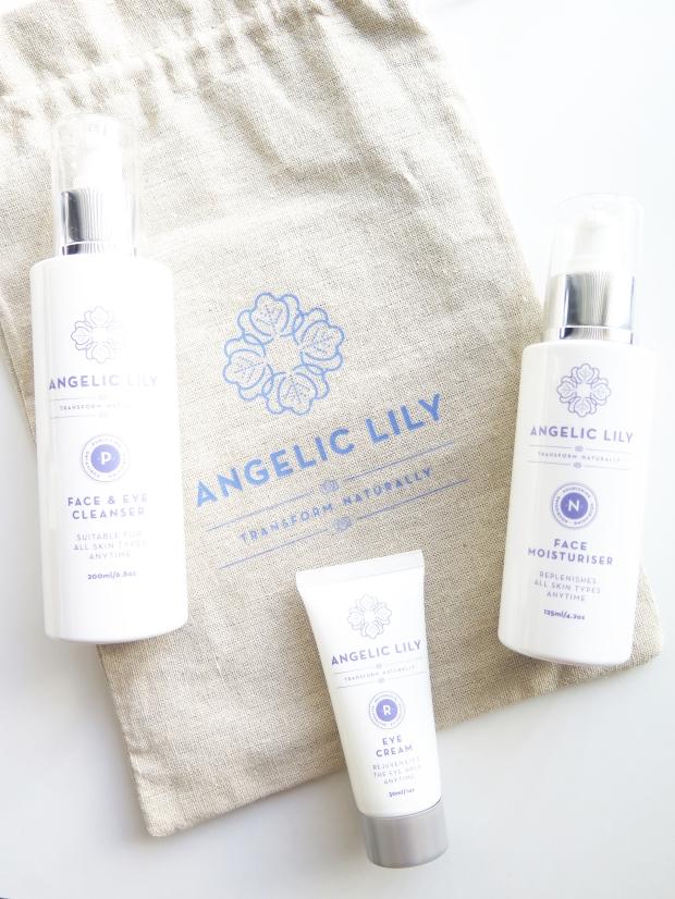 angelic lily face and eye cleanser eye cream face moisturiser