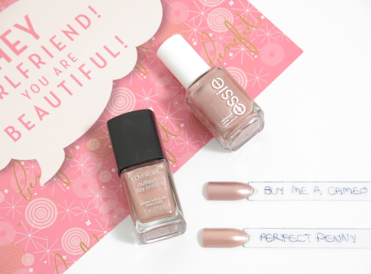 DUPE? Covergirl's Perfect Penny & Essie's Buy Me A Cameo