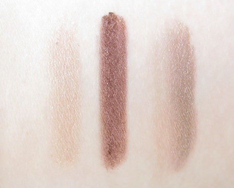 Maybelline New York Color Tattoo Pure Pigments Eye Shadows swatches buff and tough, improper copper, downtown brown 1