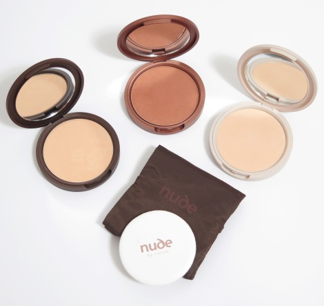 Nude by nature  Pressed Mineral Powder Collection Pressed Mineral Cover, Pressed Mattifying Mineral Veil, Pressed Matte Mineral Bronzer 3