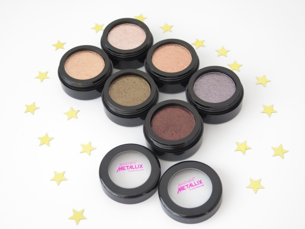 australis cosmetics metallix eyeshadow guns and rose petals plum diddy gold gaga jay zed pearl jammin lana del grey 1