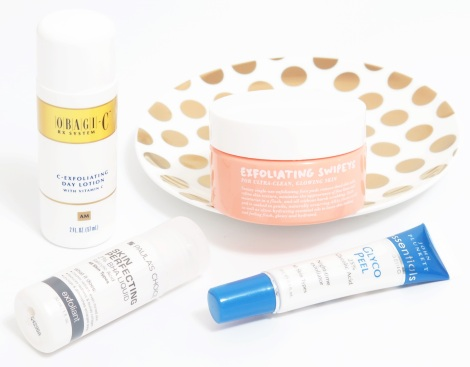 Obagi C-Exfoliating Day Lotion Paula's Choice Skin Perfecting 2% BHA Liquid Go-To Skincare Exfoliating Swipeys John Plunkett Glyco Peel