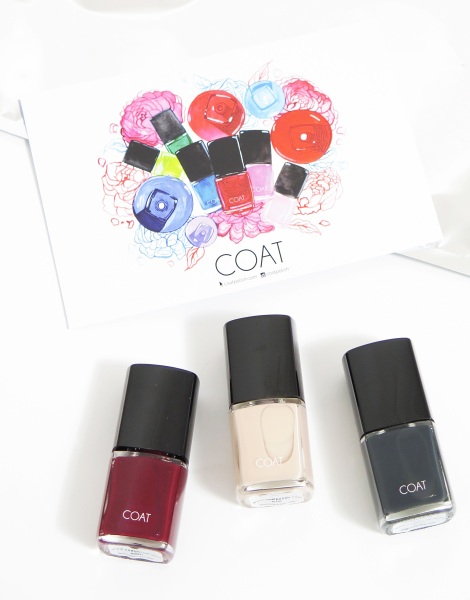 coat polish lust, cinnamon, disturbia nail polish