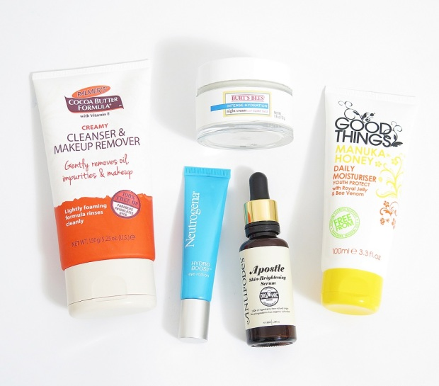 palmers cocoa butter creamy cleanser and makeup remover burts bees intense hydration night cream neutrogena hydroboost eye roll on antipodes apostle skin brightening serum good thinks manuka honey daily moisturiser