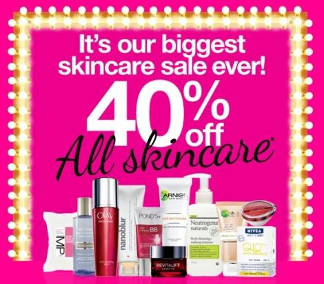 priceline 40% off skincare sale