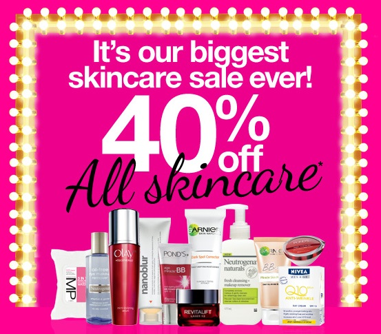 priceline 40% off skincare sale