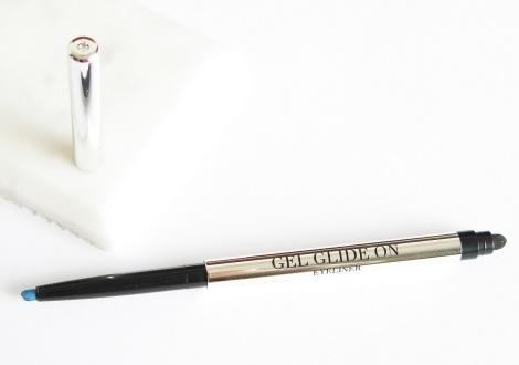 Klara Cosmetics Gel Glide On Eyeliner Review swatches azure blue 1
