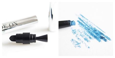 Klara Cosmetics Gel Glide On Eyeliner Review swatches azure blue 2