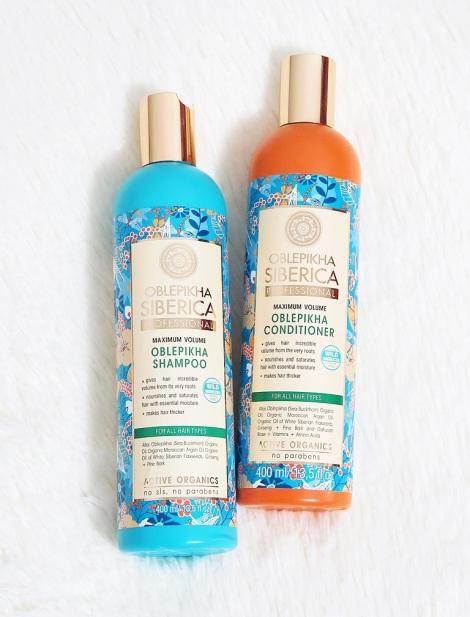 natura siberica oblepikha professional maximum volume shampoo conditioner  review