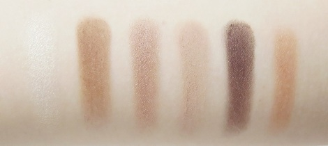 pur minerals au naturel eyeshadow palette cease crease eye shadow primer review swatches