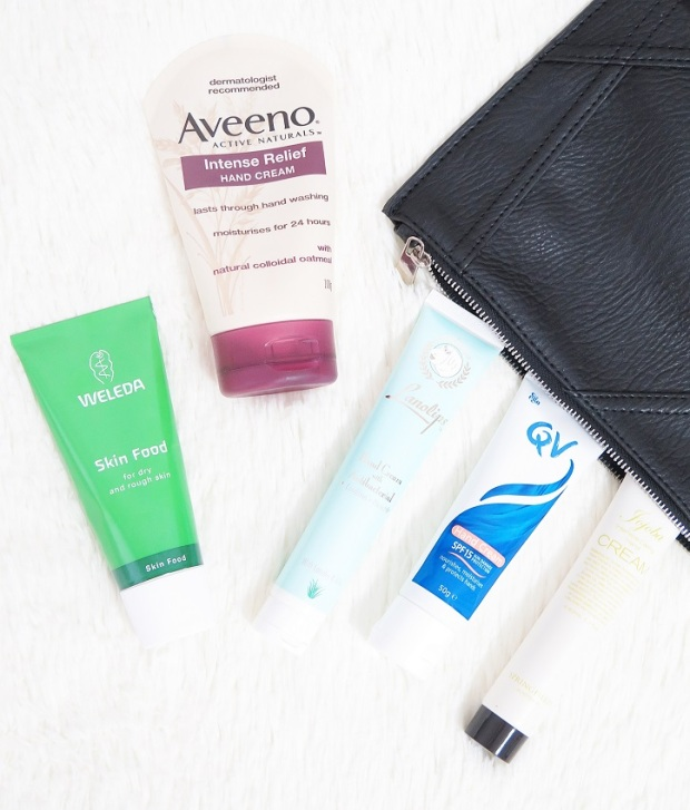 aveeno intense relief hand cream, weleda skin food, lanolips antibacterial hand cream qv spf15 hand cream springfields jojoba hand cream review