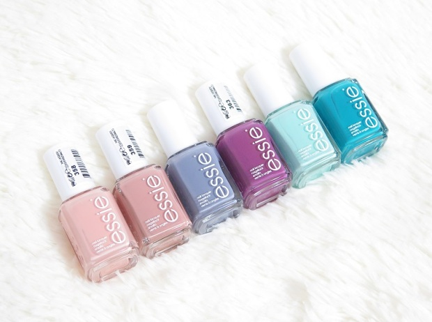 essie nail polish spring colection 2015 flowerista, perennial chic, picked perfect, garden variety, blossom dandy, petal pushers review swatches 1