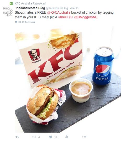 kfc sponsored post