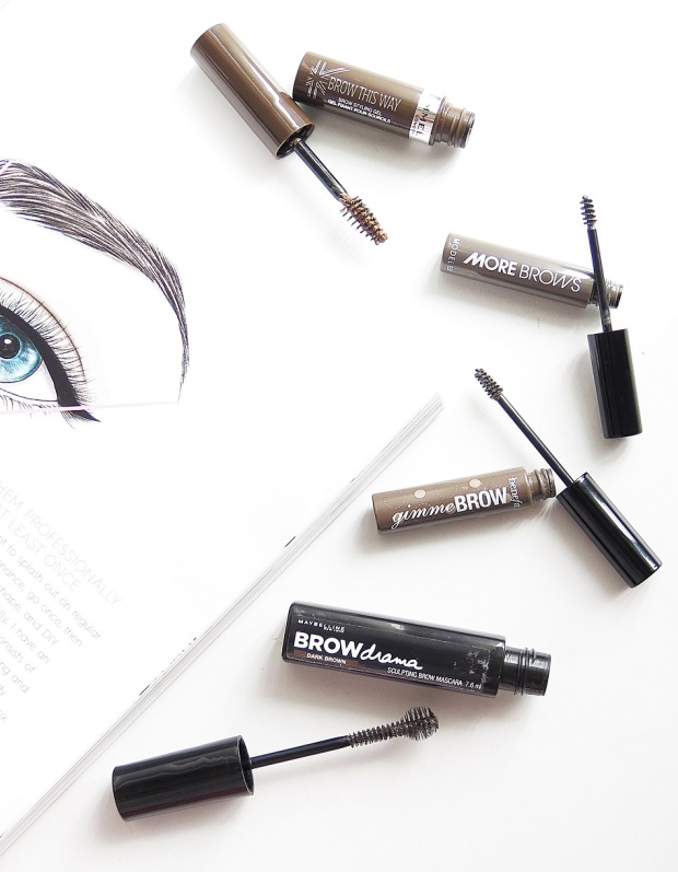 battle of the brow gel best highend drugstore rimmel brow this way browstyling gel modelco morebrows benefit gimme brow maybelline brow drama