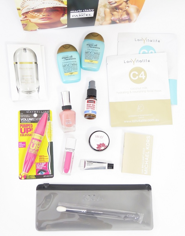 The Parcel by Marie Claire Summer Edition – Review maybelline paulas choice elizabeth ardern sally hansen zoeva michael kors swisse lonvitalite trilogy ogx argan