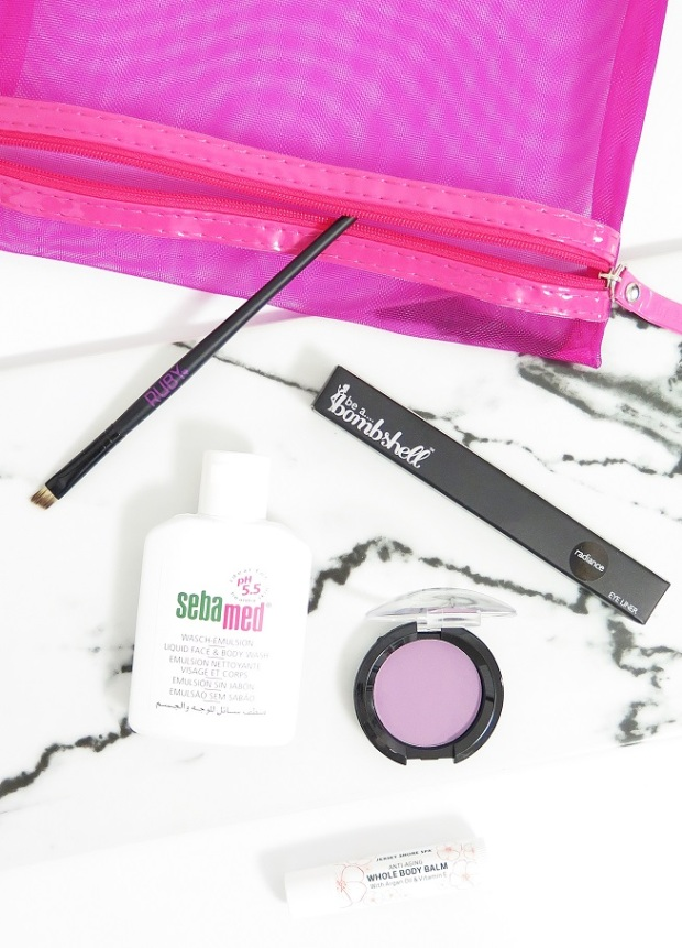 LUST HAVE IT – FEBRUARY 2016 – REVIEW WOMENS BEAUTY BOX SUBSCRIPTION BE A BOMBSHELL MECHANICAL EYELINER SEBAMED LIQUID FACE AND BODY WASH GLAZEL VISAGE MATTE EYESHADOW JERSEY SHORE COSMETICS WHOLE BODY BALM RUBY EYELINER S