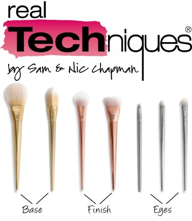 real techniques rt bold metals collection makeup brushes review brush
