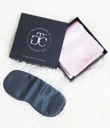 the goodnight co 100% Mulberry Silk Eye Mask pillow case silk bedding review