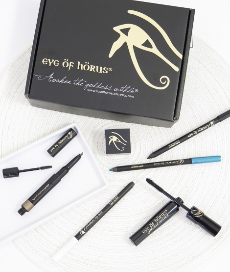 eye of horus review swatches dynasty dual brow perfect goddess pencil kolh eyeliners goddess mascara sharpener