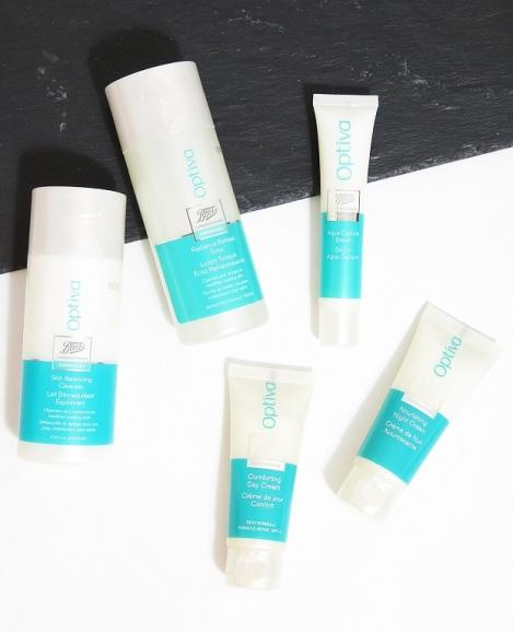 boots laboratories optiva skin balancing cleanser refresh tonic aqua serum comforting day cream nourishing night cream review 1