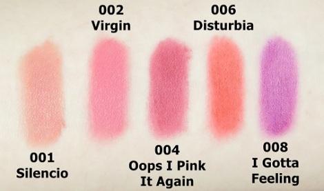 L'Oreal Paris Infallible Matte FX Lip Colour - Review swatches 1