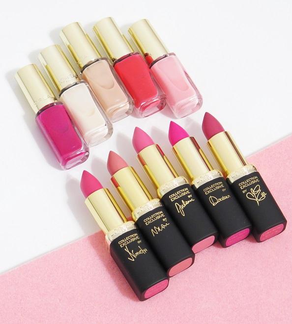 L'Oreal Paris La Vie En Rose Colour Riche Collection Exclusive 2016 - Review swatches natasha naomi julianne doutzen eva lip stick nail polishes