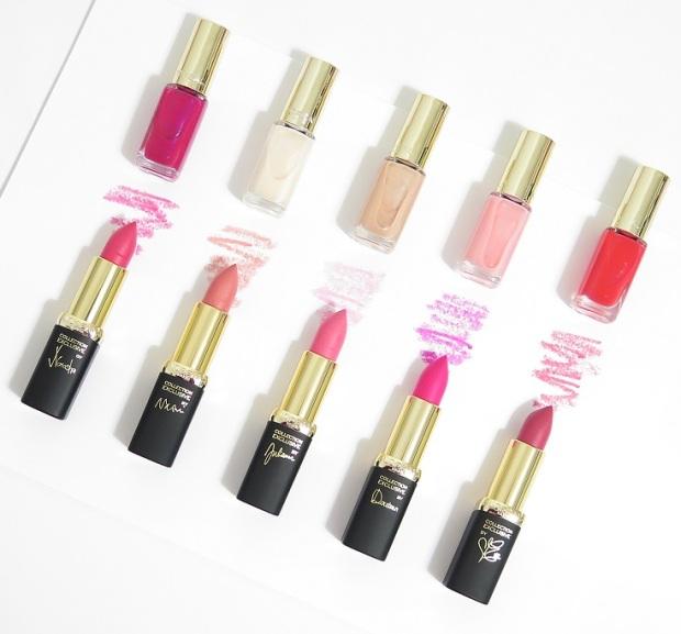 L'Oreal Paris La Vie En Rose Colour Riche Collection Exclusive 2016 - Review swatches natasha naomi julianne doutzen eva nail polishes lipstick