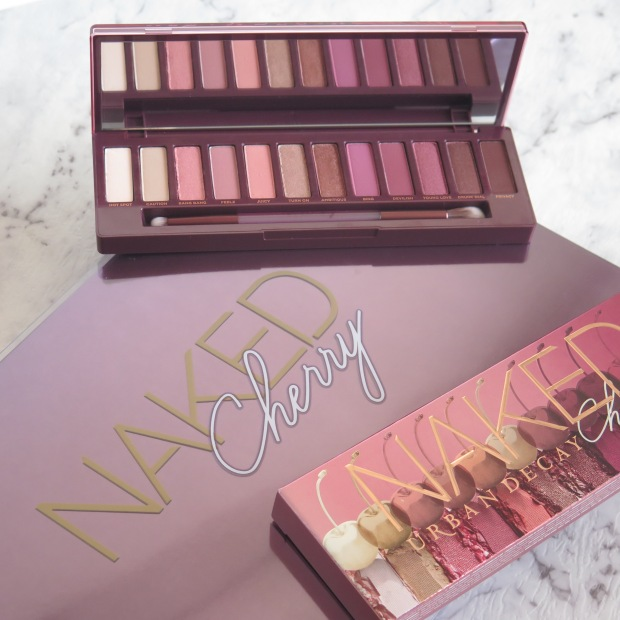 URBAN DECAY NAKED CHERRY PALETTE COLLECTION SWATCHES REVIEW EYESHADOW 1